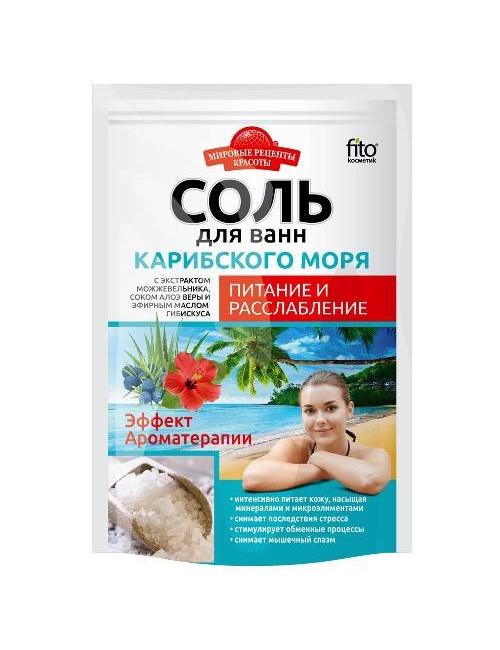 Odżywcza sól do kąpieli z Morza Karaibskiego 500g - Fitokosmetik