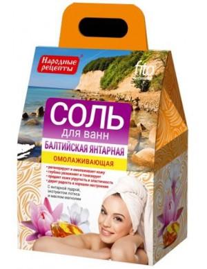 Odmładzająca sól do kąpieli Bałtycka Bursztynowa - Fitokosmetik