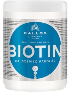 Upiększająca maska do włosów z biotyną Biotin 1000ml – Kallos
