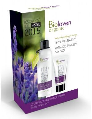 Sylveco Biolaven - Zestaw kosmetyków na noc – Krem do twarzy i płyn micelarny