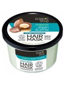 Wzmacniająca i odżywcza maska do włosów Argan & Amla - Organic Shop
