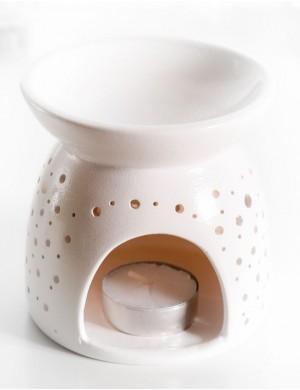 Mały kominek do wosków zapachowych Wenus Biały