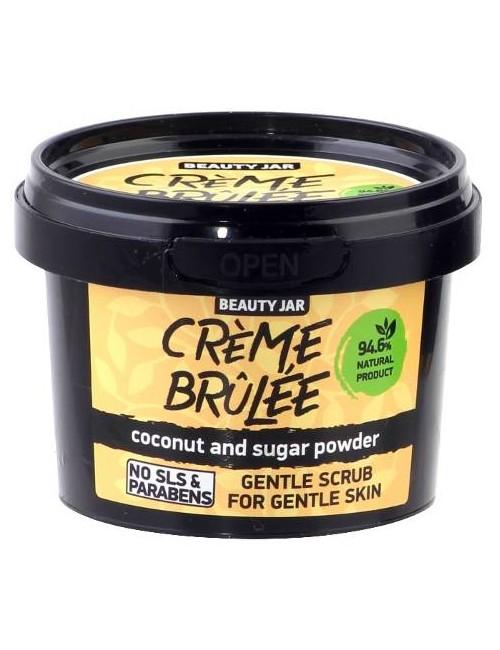 Delikatny scrub do twarzy do skóry delikatnej z wiórkami kokosa – Beauty Jar CREME BRULEE