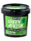 Modelujący scrub do ciała – Zielona kawa i olejek pomarańczowy – Beauty Jar GREEN APELSIN