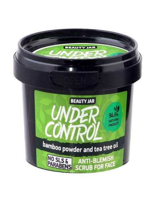 Scrub do twarzy przeciw wypryskom z olejem z drzewa herbacianego – Beauty Jar UNDER CONTROL