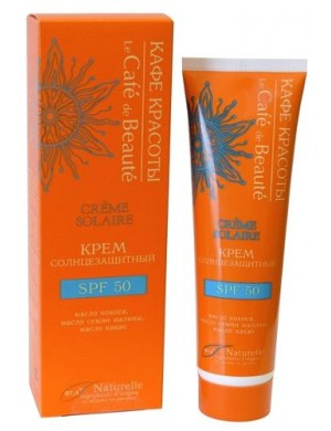 Krem do opalania z filtrem SPF50 97% naturalny – Le Cafe de Beaute