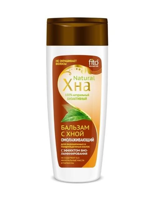 Bioaktywny balsam do włosów farbowanych z henną – Fitokosmetik