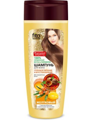 FITOKOSMETIK Jajeczny szampon proteinowy do włosów farbowanych