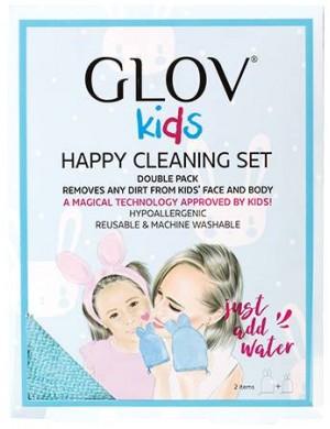 Zestaw rękawiczek do mycia twarzy dla mamy i dziecka - GLOV Kids