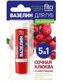 Żurawinowa wazelina do ust w sztyfcie 5w1 – Fitokosmetik