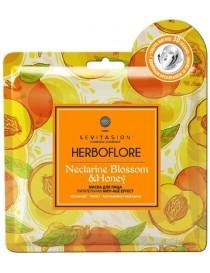 Odżywiająca maska w płachcie z nektarynką i efektem Anti-Age - Herboflore