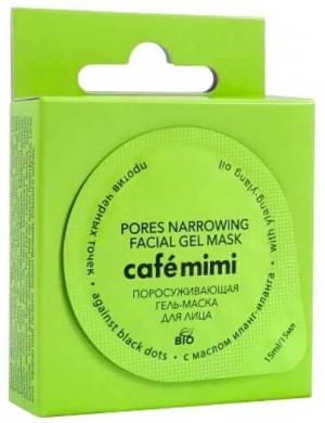 Cafe Mimi Żel-maska zwężająca pory do twarzy przeciwko zaskórnikom z olejkiem ylang-ylang