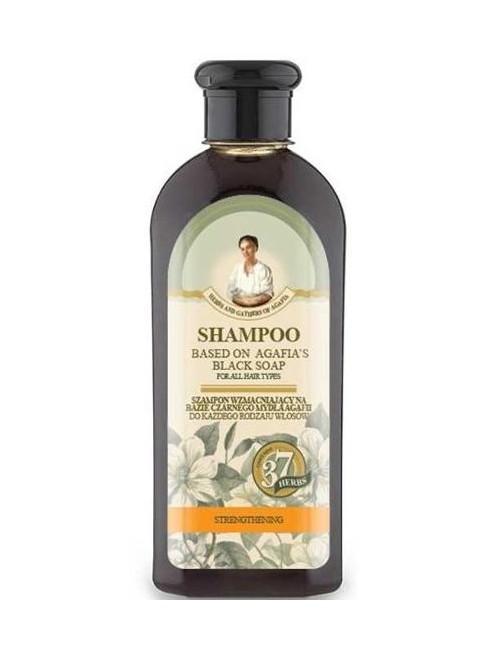 Wzmacniający czarny szampon do włosów – Trawy i Zioła Agafii