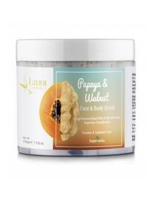 Naturalny peeling z papają i orzechem włoskim – Lass Naturals
