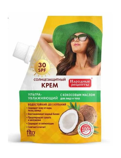 Nawilżający krem do opalania twarzy i ciała SPF30 – Fitokosmtik