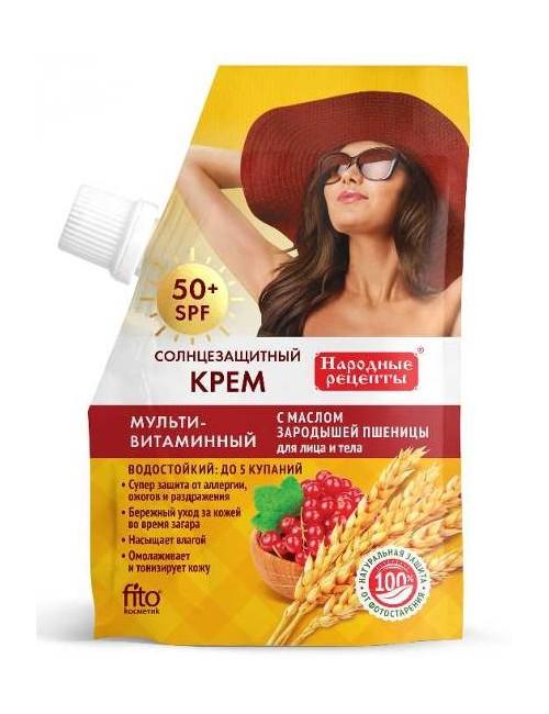 Witaminowy krem do opalania twarzy i ciała SPF50 - Fitokosmetik