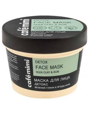 Maska do twarzy z zieloną glinką i acai Detox – Cafe Mimi