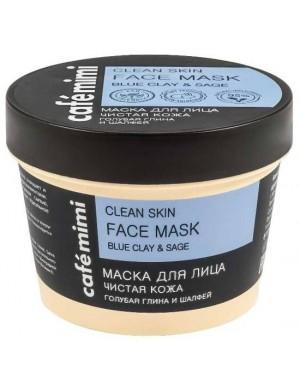 Oczyszczająca maska z niebieską glinką i szałwią – Cafe Mimi