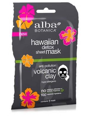 Detoksykująca maska w płachcie z glinką wulkaniczną – Alba Botanica