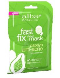 Przeciwtrądzikowa maska w płachcie z kwasem salicylowym – Alba Botanica