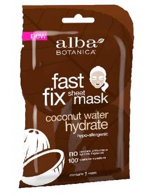 Nawilżająca maska w płachcie z wodą kokosową – Alba Botanica