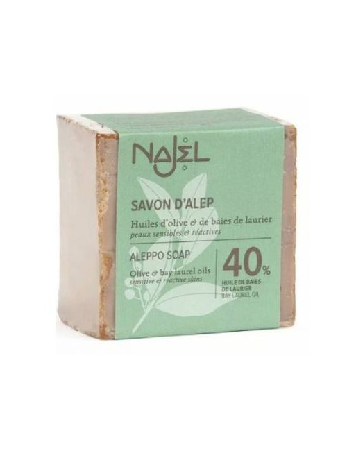 Najel Oliwkowe mydło z Aleppo 40% oleju laurowego