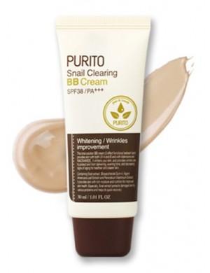 Krem BB ze śluzem ślimaka Snail Clearing BB Cream - PURITO