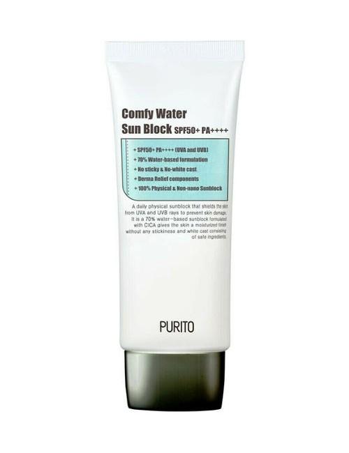 Przeciwsłoneczny krem Comfy Water Sun Block SPF50+ - PURITO