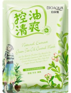 Maska w płacie z zieloną herbatą do cery tłustej – BIOAQUA