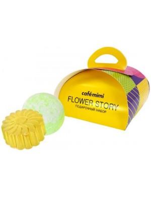 Zestaw kosmetyków do kąpieli Flower Story – Cafe Mimi