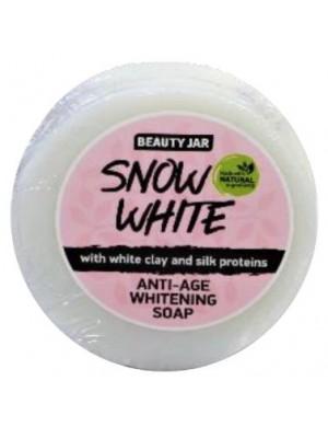 Mydło wybielające z białą glinką i jedwabiem Snow White – Beauty Jar