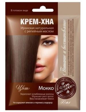 Kremowa henna do włosów z olejkiem - Mokka – Fitokosmetik