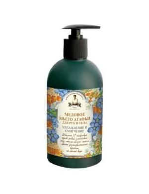 Miodowe mydło w płynie do rąk i ciała – Receptury Agafii