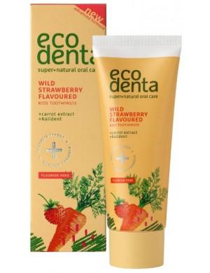 Poziomkowa pasta do zębów z ekstaktem z marchwii i kalidentem – Ecodenta