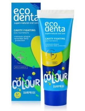 Ecodenta Przeciwpróchnicza kolorowa pasta do zębów dla dzieci