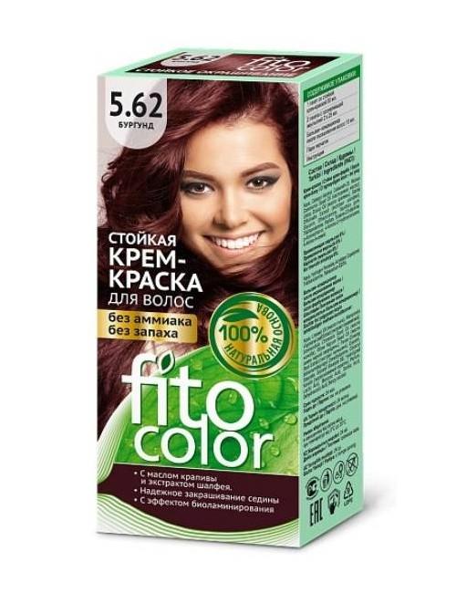 Kremowa farba do włosów 5.62 Burgund – FitoColor