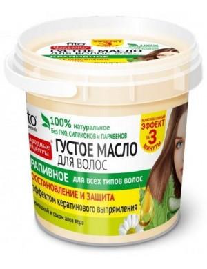 Fitokosmetik Gęsty olej do włosów z pokrzywą i efektem prostowania keratyną
