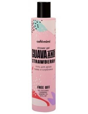Żel pod prysznic Guava i Truskawka – Cafe Mimi