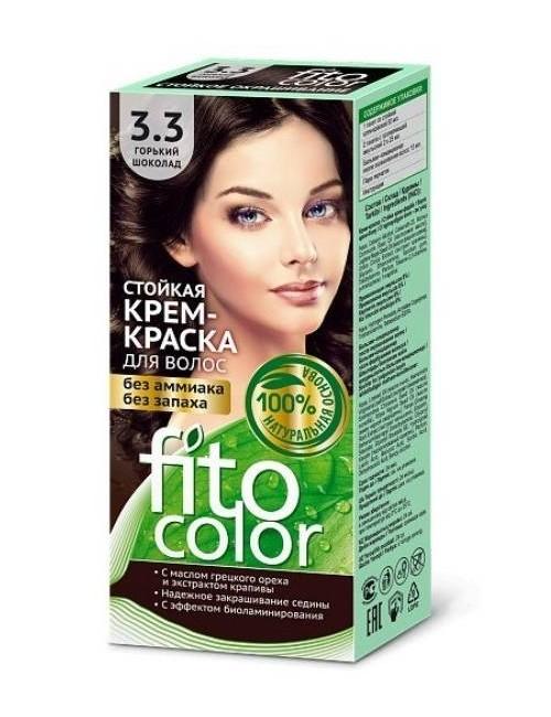 Farba do włosów bez amoniaku 3.3 Gorzka Czekolada – Fito Color