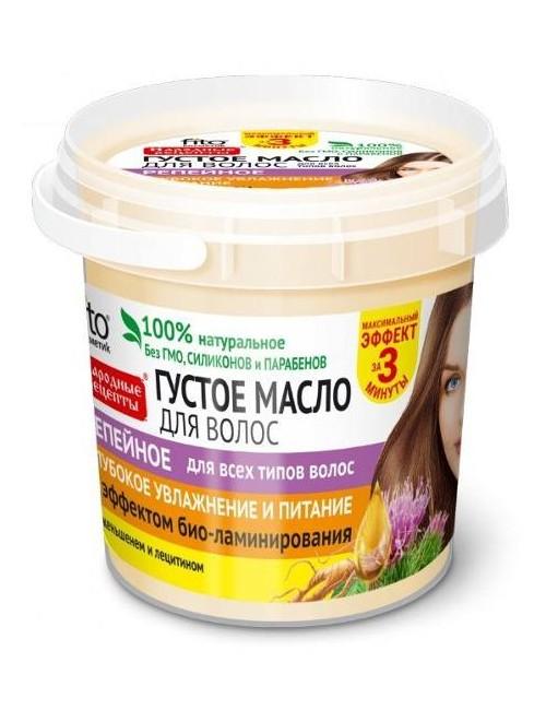 Gęsty wzmacniający olej łopianowy do włosów - Fitokosmetik