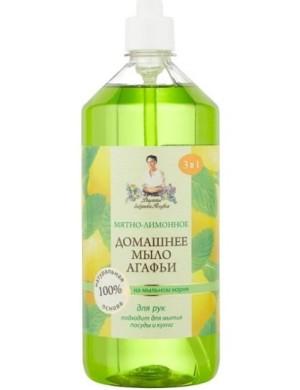 Domowe mydło miętowo-cytrynowe z mydlnicą Babci Agafii