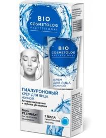 Hialuronowy krem na noc Aktywne Odmładzanie i Nawilżenie – Bio Cosmetolog