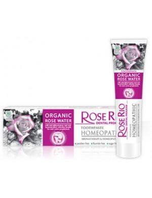 Organiczna Pasta do zębów z wodą różaną bez fluoru marki Rose Rio
