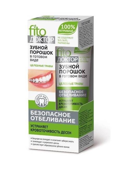 Wybielający proszek do zębów Rośliny Lecznicze – Fitokosmetik