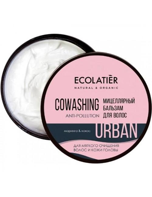 Micelarna odżywka do włosów Moringa i kokos – ECOLATIER Urban