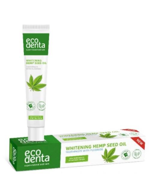 Wybielająca pasta do zębów z olejem konopnym – Ecodenta