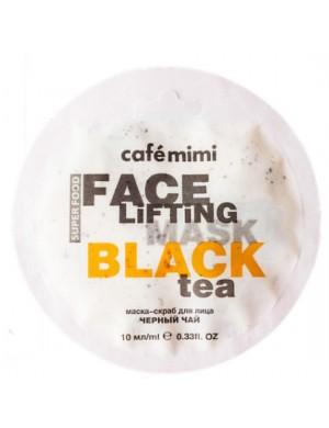 Maska scrub do twarzy Czarna Herbata I Trawa Cytrynowa – Cafe Mimi