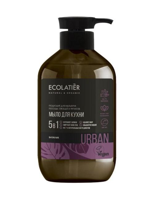 Mydło kuchenne do mycia naczyń, rąk I warzyw 5w1 Bazylia – Ecolatier