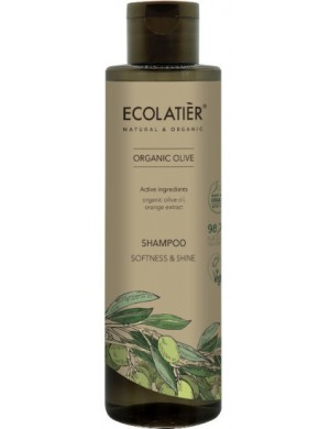 Oliwkowy szampon do włosów Miękkość I Połysk – Ecolatier