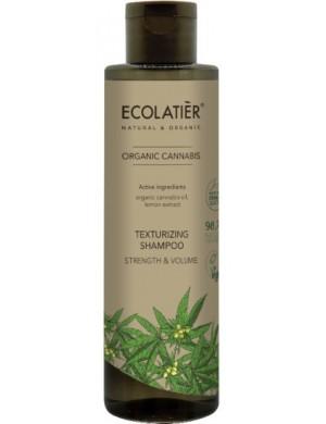 Wzmacniający szampon na objętość włosów Cannabis – Ecolatier